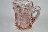"** Vintage Pink Glass ""Nursery Rhyme""  Water Pitcher"