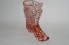 **MBA #63-291 Vintage Pink Glass  Ladies Victorian Boot