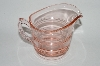 "**Vintage Pink Depression Glass ""Creamer"""