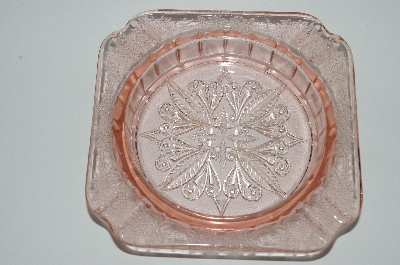 "**MBA #63-088  Vintage Pink Depression Glass ""Adam"" Ashtray"