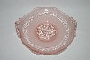 ** Vintage Pink & Satin Glass Fancy Candy Dish