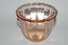 **MBA #64-283  Vintage Pink Glass Jelly Jar
