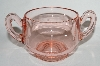 **MBA #64-328  Vintage Pink Depression Glass Sugar Bowl