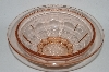 "** Vintage Pink Depression Glass ""Fruit"" Bowl"