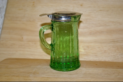 **Reproduction Green Glass Syrup Pitcher #4815