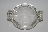 +MBA #65-054   Vintage Clear Glass Round Ashtray
