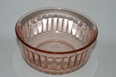 **Vintage Pink Glass Berry Bowl