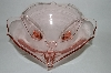 **Vintage Pink Depression Glass 3 Footed Fruit Bowl