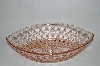 "**Vintage Pink Depression Glass ""Widnsor"" Boat Shaped Bowl"