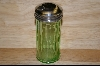 """SOLD""   **Reproduction Green Glass Sugar Shaker #4818"