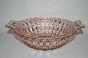 "**Vintage Pink Depression Glass ""Windsor"" Vegetable Bowl With Handles"