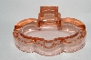 **MBA #64-122  Vintage Pink Depression Glass Fancy Ashtray