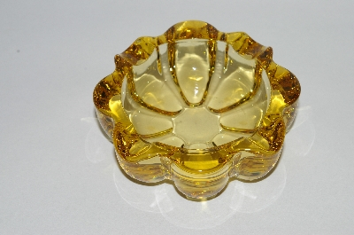 **MBA #64-171   Vintage Amber Glass Ashtray