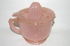 "+MBA #63-026  "" Reproduction Pink Milk Glass Mixer, Measuring Cup & Reamer Combo"