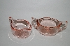 "**Vintage Pink Depression Glass ""Cream & Sugar"" Set"