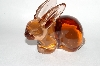 **MBA #64-235  Vintage ? Pink Glass Rabbit