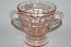 "**MBA #64-501   "" Vintage Pink Depression Glass Sugar Bowl"