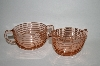 "** Vintage Pink Depression Glass ""Manhattan"" Cream & Sugar Set"