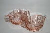 "**Vintage Pink Depressiion Glass ""Manhattan"" Cream & Sugar Set"