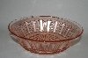 "**Vintage Pink Depression Glass ""Fancy Fruit"" Bowl"