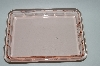 "** Vintage Pink Depression Glass ""Square"" Vanity Tray"