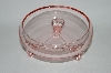 ** Vintage Pink Depression Glass 3 Footed Fruit Bowl