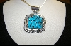 ** Artist Signed Blue Turquoise Pendant