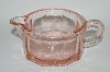 +MBA #64-345  Limited Edition Reproduction Pink Glass Reamer Cup