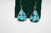 **MBA #65-011   Artist Signed Blue Turquoise Earrings