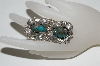 **MBA #65-195   Sterling Green Turquoise 2 Stone Fancy Leaf Ring
