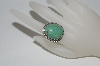 **MBA #65-080   Artist Stamped Green Turquoise Ring