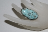 **MBA #65-208  Artist Signed Large Blue Turquoise Ring