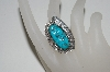 **MBA #65-188   Artist Signed Blue Turquoise Leaf Ring