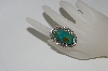 **MBA #65-149  Sterling Navajo Green Turquoise Ring
