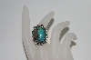 "**MBA #65-173  Sterling ""Navajo"" Blue Turquoise Ring"