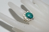 "**MBA #65-171  Sterling ""Navajo"" Oval Blue Spider Web Turquoise Ring"