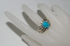 **MBA #65-153  Artist Signed Blue Turquoise Band Style Ring