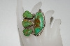 "**MBA #65-192  "" Big & Beautiful 4 Stone Green Turquoise Ring"