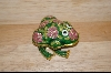 Pink Rose Enameled Frog Box #5097