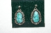 **MBA #65-026   Pair Of Blue Turquoise Earrings