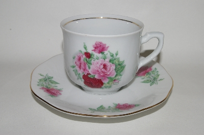 "+MBA #66-009  Service For 4    "" Baum Brothers ""Maria"" Cup & Saucer Set"