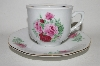 "**MBA #66-009  Service For 4    "" Baum Brothers ""Maria"" Cup & Saucer Set"