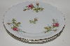 "**Wawel ""Pink 3 Roses"" Bread & Butter Plate Set Of 4"