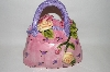 "**MBA #69-001   "" Pink Floral 3 Dimensional Hand Bag Cookie Jar"