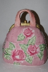 "Pink ""Rose"" Floral Handbag Cookie Jar"