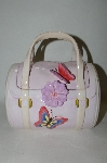 "**MBA #69-164   "" Pale Pink 3D Butterfly Handbag Cookie Jar"
