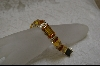 Emerald Cut Citrine Colored CZ Bracelet