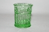 **Vintage Green Glass Tooth Pick Holder