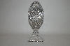 **Large Beautiful Clear Crystal Fancy Cut Egg On Stand