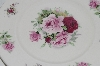 **MBA #69-152  White Ceramic & Pink & Red Rose's Serving Plate